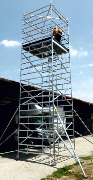 Trabattello torre osservazione ALUPONT QUADRO 200 cm