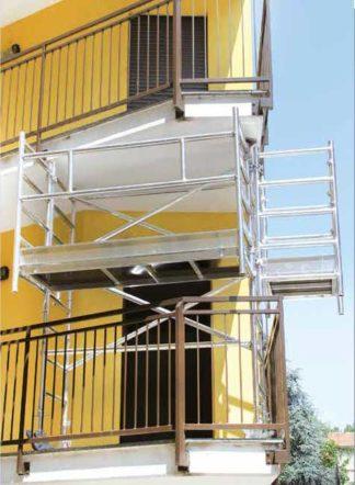 Ponteggio per balconi D.lgs 81/2008
